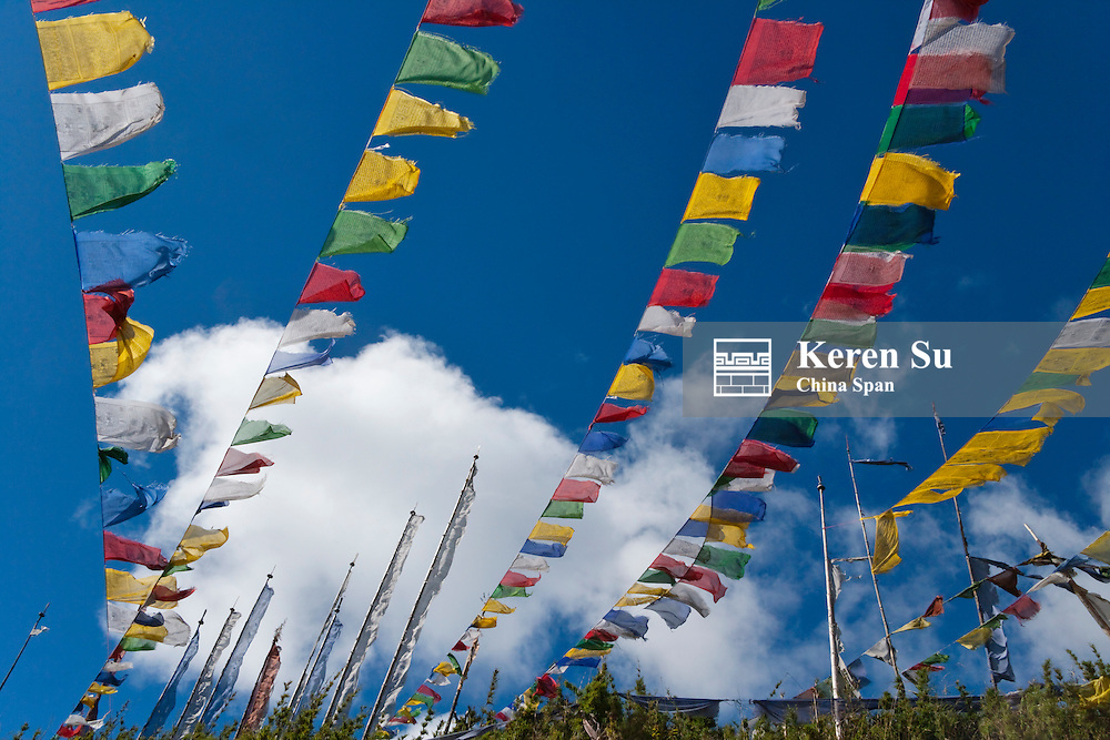 Praying flags in the Tang valley, Bumthang, Bhutan