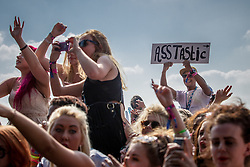 © Licensed to London News Pictures . 09/06/2013 . Heaton Park , Manchester , UK . The crowd looks on as Iggy Azalea (aka Amethyst Amelia Kelly ) performs on the main stage . Day 2 of the Parklife music festival in Manchester on Sunday 9th June 2013 . Photo credit : Joel Goodman/LNP