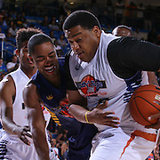Actor Jay Ellis (Left) and Tim Perkins battle for the ball in first half of The 2015 Duffy's Hope Celebrity Basketball Game Saturday, August 01, 2015, at The Bob Carpenter Sports Convocation Center, in Newark, DEL.    <br /> <br /> Proceeds will benefit The Non-Profit Organization Duffy's Hope Youth Programming.