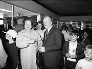 Charles James Haughey at Northside Shopping Center, Dublin,<br />