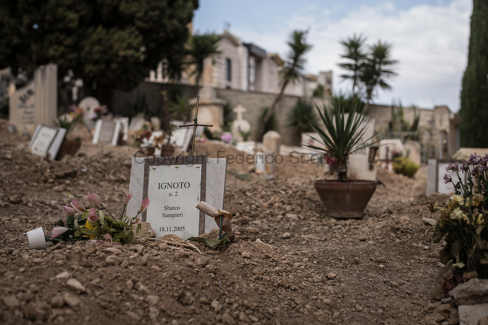 Scicli cimitery where the bodies of many migrants rest since the 2005 shipwrecks