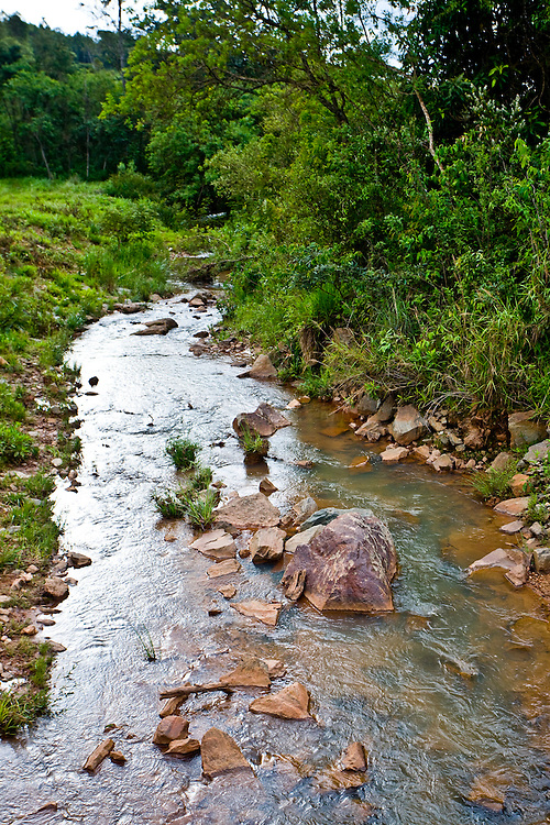 Jeceaba_MG, Brasil...Corrego em uma paisagem rural em Jeceaba...The stream in the rural landscape in Jeceaba...Foto: JOAO MARCOS ROSA / NITRO.
