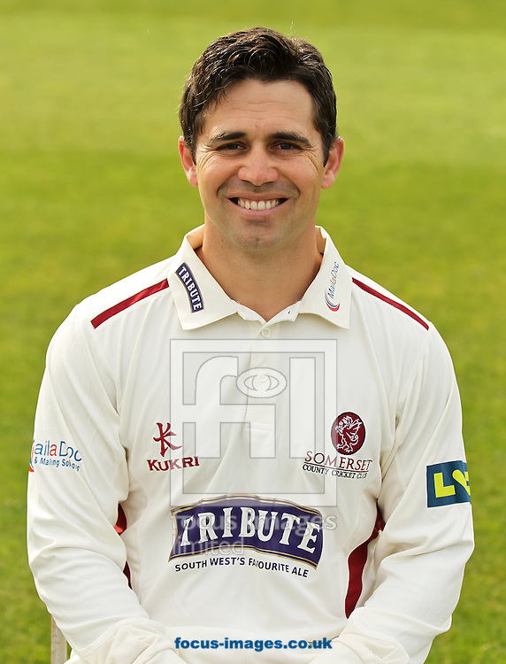 Johann Myburgh pictured during Somerset County Cricket Club media day at the County Ground, Taunton, Taunton<br /> Picture by Tom Smith/Focus Images Ltd 07545141164<br /> 31/03/2014