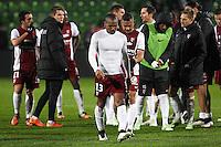 Deception Metz - Florent MALOUDA - 17.01.2015 - Metz / Montpellier - 21eme journee de Ligue 1<br />Photo : Fred Marvaux / Icon Sport