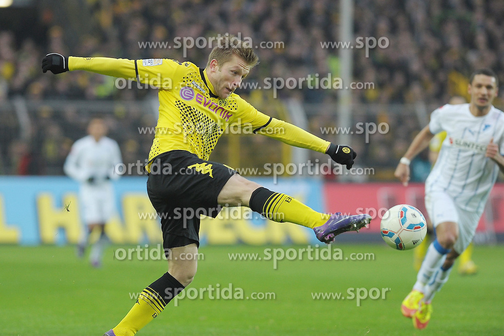 "28.01.2012, Signal Iduna Park, Dortmund, GER, 1. FBL, Borussia Dortmund vs 1899 Hoffenheim, 19. Spieltag, im Bild Jakub Blaszczykowski (Dortmund #16) // during the football match of the german ""Bundesliga"", 19th round, between GER, 1. FBL, Borussia Dortmund and 1899 Hoffenheim, at the Signal Iduna Park, Dortmund, Germany on 2012/01/28. EXPA Pictures © 2012, PhotoCredit: EXPA/ Eibner/ Ulrich Roth..***** ATTENTION - OUT OF GER *****"
