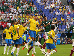 July 2, 2018 - Samara, Russia - July 2, 2018, Russia, Samara, FIFA World Cup 2018, 1/8 finals. Football match of Brazil - Mexico at the stadium Samara - Arena. Player of the national team (Credit Image: © Russian Look via ZUMA Wire)