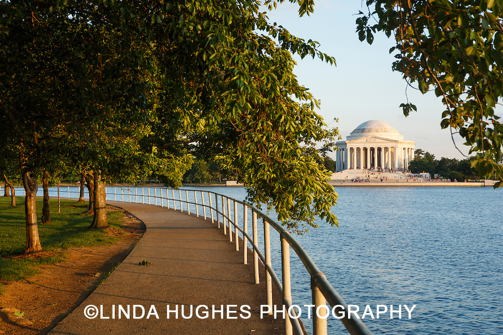 Tidal Basin with View of the Jefferson Memorial in Washington DC USA