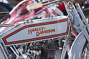 Vintage Harley Davidson 1000 cc HT motorbike on display at the annual Bike Week in Daytona Beach, Florida.