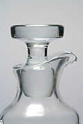 glass stopper in a glass jar neck