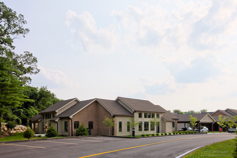 Exterior images of Broadmead Senior Living Community built by Harkins Construction