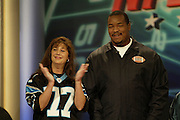 Carolina Panthers defensive tackle Kris Jenkins appears on NFL Players Week on Wheel of Fortune on 11/04/2003. ©Paul Anthony Spinelli
