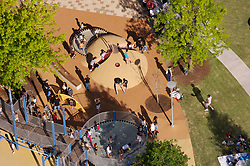 Stock photo of an aerial view of the park's playground area