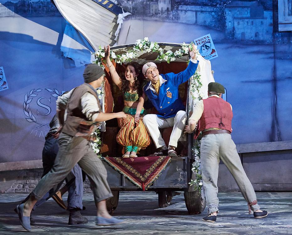 23nd June 2017.Il Turco in Italia, Rossini  at Garsignton Opera. <br /> <br /> Zaidi - Katie Bray<br /> <br /> Selim - Quirijn de Lang