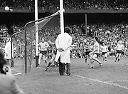 Dublin scored a point as he runs to the goal during the Kerry v Dublin All Ireland Senior Gaelic Football Final in Croke Park on the 24th of September 1978. Kerry 5-11 Dublin 0-9.
