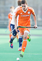 ROTTERDAM -  Matis Papa  (Neth.)   Practice Match Hockey : Netherlands Boys U18  v England U18 .  COPYRIGHT KOEN SUYK