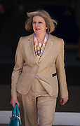 Home Secretary Theresa May leaving the Queen Elizabeth Conference Centre in London on April 20th 2012 after speaking at the Stonewall workplace diversity conference..Photo Ki Price.