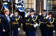 8-4-2015 - DEN HAAG - Koning Willem Alexander reikt woensdagmiddag 8 april op het Binnenhof in Den Haag een standaard uit aan korpschef Gerard Bouman van de nationale politie. De Koning en de korpschef houden tijdens de ceremonie beiden een toespraak.COPYRIGHT ROBIN UTRECHT<br /> 8-4-2015 - THE HAGUE - King Willem Alexander presented Wednesday April 8 at the Binnenhof in The Hague from a standard to police chief Gerard Bouman of the national police. Keep the King and the chief of police during the ceremony both a toespraak.COPYRIGHT ROBIN UTRECHT