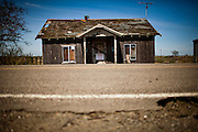 An abandoned home on Bacon Island, March 29, 2011.