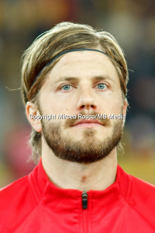 CLUJ-NAPOCA, ROMANIA, MARCH 26: Denmark's national soccer player Lasse Schone pictured before the 2018 FIFA World Cup qualifier soccer game between Romania and Denmark, on March 26, at Cluj Arena Stadium, in Cluj-Napoca, Romania. (Photo by Mircea Rosca/Getty Images)