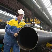 July 2015 Hartlepool - Images from the 20 inch Mill at TATA Steel tubes plant in Hartlepool
