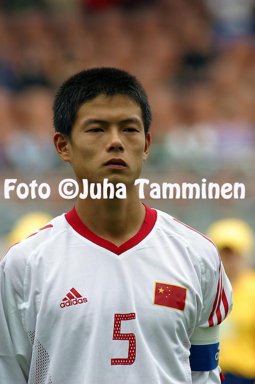 16.08.2003, T??l? Stadium, Helsinki, Finland.FIFA U-17 World Championship - Finland 2003.Match 11: Group A - China v Colombia.Chenghua Li - China.©Juha Tamminen