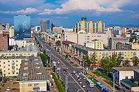 Mongolie, Oulan Bator, Peace avenue // Mongolia, Ulan Bator, Peace avenue