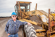 Don Bass, Road Grader at Crow Butte, Crawford, NE