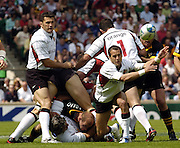 Twickenham, GREAT BRITAIN, 2004 Heineken Cup Final - London London Wasps v Toulouse, Frederic Michalak, moves the ball from the back of the scrum.,  23/05/2004  [Credit Peter Spurrier/Intersport Images].   [Mandatory Credit, Peter Spurier/ Intersport Images].