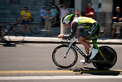 Cyclist of Orica during chronometer (17,8km) of Tour de Slovenie 2012, on June 17 2012, in Ljubljana, Slovenia. (Photo by Urban Urbanc / Sportida.com)
