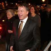 NLD/Amsterdam/20080201 - Verjaardagsfeest Koninging Beatrix en prinses Margriet, Wouter Bos en partner Barbara