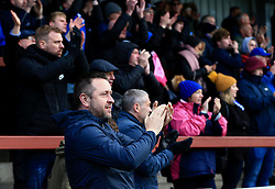 Bristol Rovers fans cheer at full time - Mandatory by-line: Matt McNulty/JMP - 27/04/2019 - FOOTBALL - Highbury Stadium - Fleetwood, England - Fleetwood Town v Bristol Rovers - Sky Bet League One