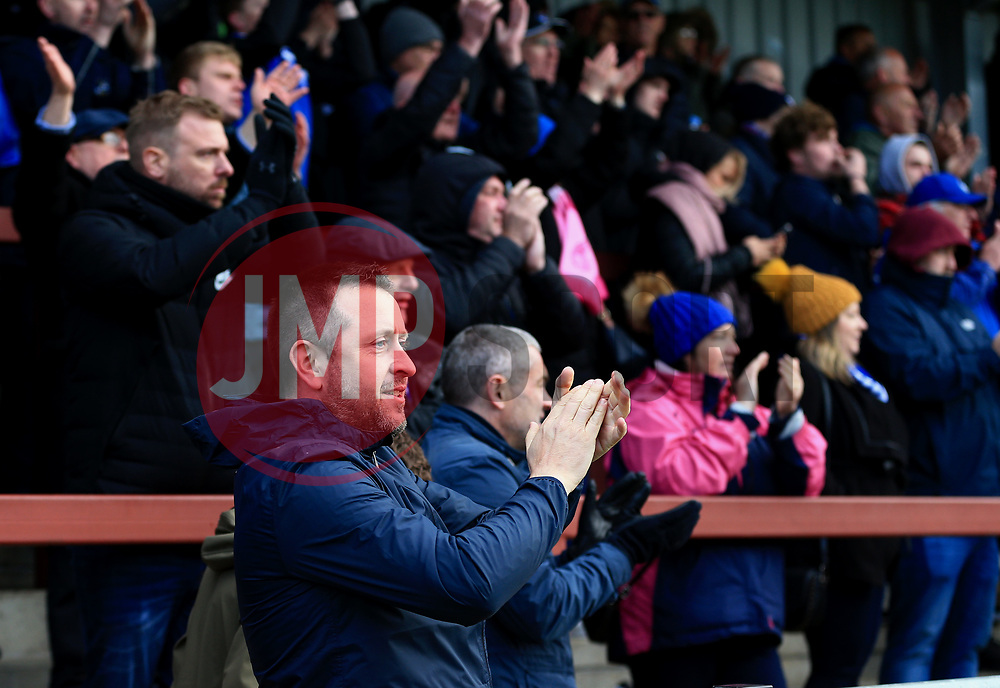 Bristol Rovers fans cheer at full time - Mandatory by-line: Matt McNulty/JMP - 27/04/2019 - FOOTBALL - Highbury Stadium - Fleetwood, England - Fleetwood Town v Bristol Rovers - Sky Bet League One
