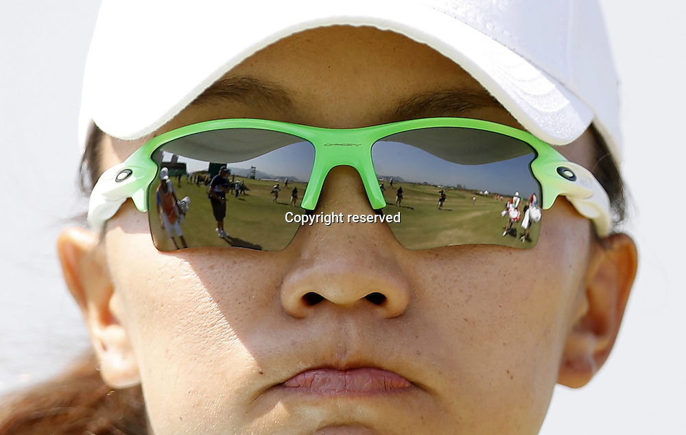 17.08.2016. Rio de Janeiro, Brazil. Olympic Games, womens golf competition 2016.  Teresa Chinese Taimp LU (TPE)  during the 1st round at the Rio Olympics Golf 2016 held at the Olympic Golf Course.