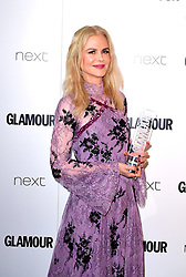 Nicole Kidman with the Film Actress Award in the press room at the Glamour Women of the Year Awards 2017, Berkeley Square Gardens, London.
