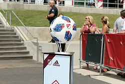 April 29, 2018 - Commerce City, Colorado - The official game ball awaits the start of  action in the MLS soccer game between Orlando City SC and the Colorado Rapids at Dick's Sporting Goods Park in Commerce City, Colorado (Credit Image: © Carl Auer via ZUMA Wire)