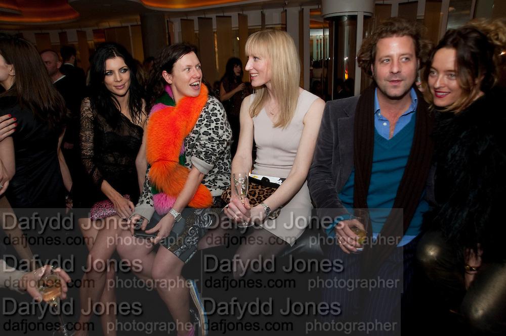LIBERTY ROSS;KATIE GRAND; JADE PARFITT; Lars von Bennigson; ALICE TEMPERLEY, . W Hotel, Leicester Sq. London. 17 February 2011. -DO NOT ARCHIVE-© Copyright Photograph by Dafydd Jones. 248 Clapham Rd. London SW9 0PZ. Tel 0207 820 0771. www.dafjones.com.