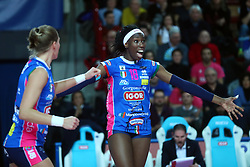 09-12-2017 ITA: Igor Gorgonzola Novara - Imoco Volley Conegliano, Novara<br /> Paola Egon #18 of Novara<br /> <br /> *** Netherlands use only ***