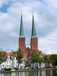 View of the Dom or Cathedral in city of Lubeck in Germany