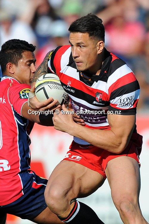 Counties player Sonny Bill Williams during their ITM Cup game Tasman Makos v Counties Manukau. Lansdowne Park, Blenheim, New Zealand. Sunday 12 October 2014. Photo: Chris Symes/www.photosport.co.nz