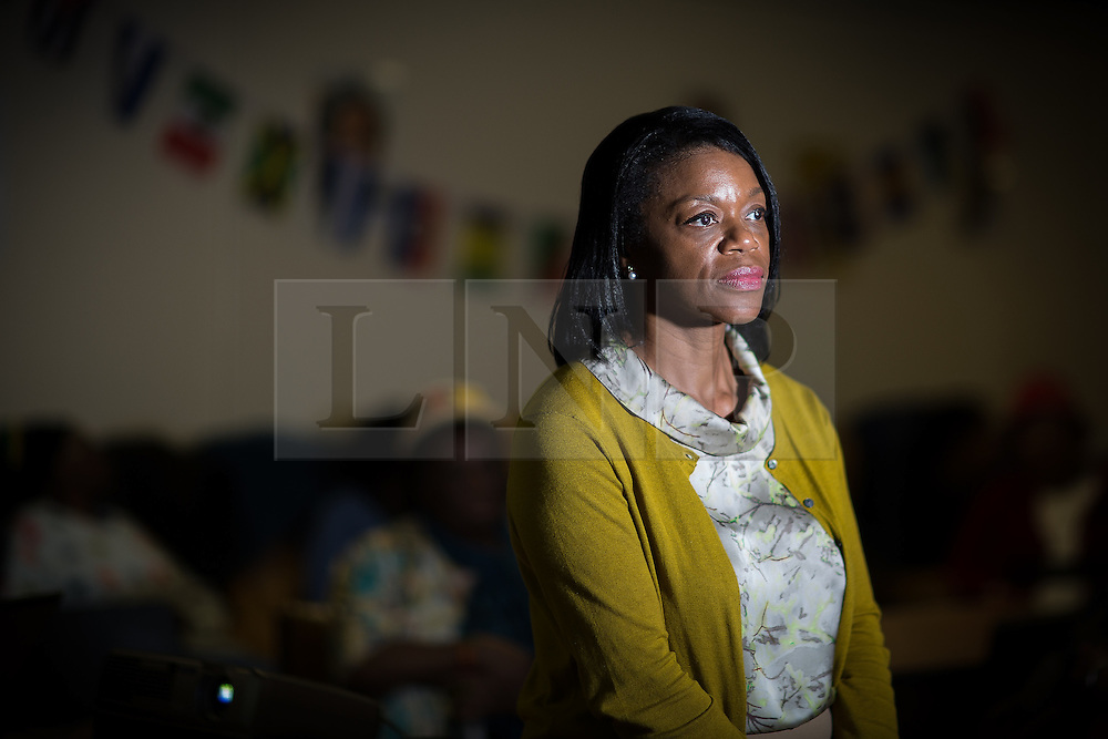 © Licensed to London News Pictures . 30/06/2016 . Manchester , UK . DOROTHY EVANS , General Manager of the African Caribbean Care Group in Hulme , received a racist and threatening phone call at lunchtime on Wednesday 29th June . The caller threatened service users and black people in general . Supervisor Jessica Priestly recorded the call as Dorothy kept the caller on the line  . Photo credit : Joel Goodman/LNP