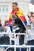 Lucas Vazquez during the celebration of the victory of the Real Madrid Champions League at Plaza de Cibeles in Madrid. May 28. 2016. (ALTERPHOTOS/Borja B.Hojas)