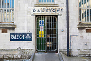 The main entrance to Raleigh wing, HMP/YOI Portland, a resettlement prison with a capacity for 530 prisoners.