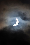 09.47 March 2015 Solar eclipse, partial eclipse of the sun, rare natural phenomenon seen from Burford, The Cotswolds, England UK