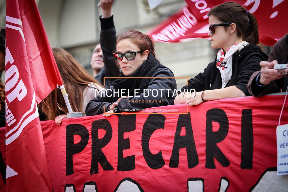 Precari al corteo del primo maggio a Torino