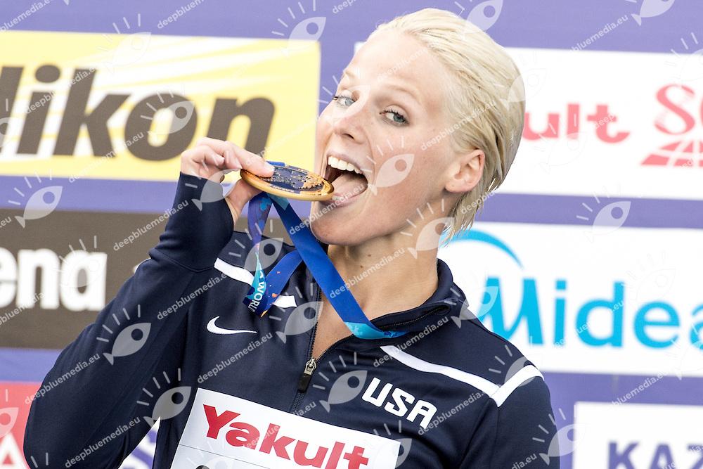 Rachelle Simpson USA Gold Medal<br /> High Diving Women 20 m. tuffi final<br /> Kazanka River<br /> Day12 04/08/2015<br /> XVI FINA World Championships Aquatics <br /> Kazan Tatarstan RUS July 24 - Aug. 9 2015 <br /> Photo G.Scala/Deepbluemedia/Insidefoto