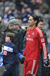 """28.01.2012, Olympiastadion, Berlin, GER, 1. FBL, Hertha BSC Berlin vs Hamburger SV, 19. Spieltag, im Bild Paolo Guerrero (Hamburger Sportverein)9 // during the football match of the german """"Bundesliga"""", 19th round, between Hertha BSC Berlin and Hamburger SV, at the Olympia Stadium, Berlin, Germany on 2012/01/28. EXPA Pictures © 2012, PhotoCredit: EXPA/ Eibner/ Burghard Schreyer..***** ATTENTION - OUT OF GER *****"""