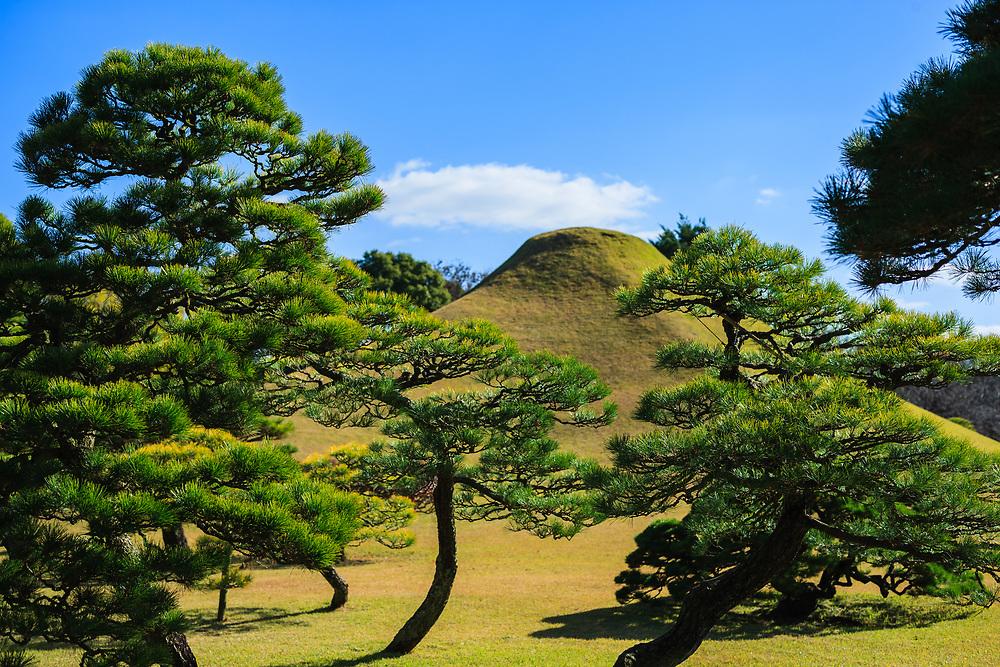A miniture Mount Fuji in Suizenji Park (Japanese garden), Kumamoto