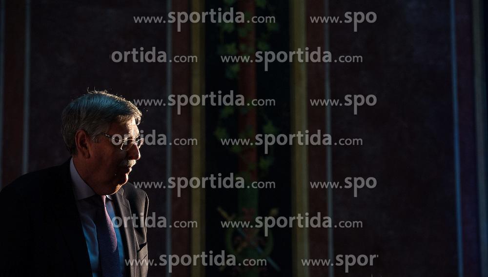04.05.2015, Parlament, Wien, AUT, FPÖ, Feier anlässlich des 10 jährigen Jubiläums des Bundesparteiobmanns HC Strache. im Bild ehemaliger FPÖ Vizekanzler Norbert Steger // former Vice Chancellor Norbert Steger during 10 years anniversary leader of the parlaimatary group of the austrian freedom party at Parliament in Vienna, Austria on 2015/05/04. EXPA Pictures © 2015, PhotoCredit: EXPA/ Michael Gruber
