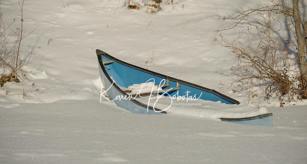 Snow Storm Saltmarsh Pond.  ©2016 Karen Bobotas Photographer