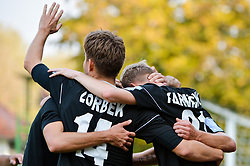 Players of NS Mura celebrates during football match between NS Mura and NK Rudar Velenje in 13th Round of Prva liga Telekom Slovenije 2018/19, on October 20, 2018 in Mestni stadion Fazanerija, Murska Sobota , Slovenia. Photo by Mario Horvat / Sportida